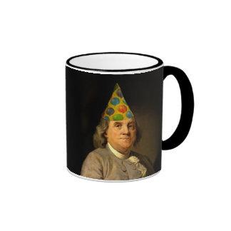 Happy Birthday  From Ben Franklin Ringer Mug