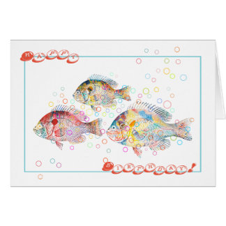 Happy Birthday (from Colorful Carps) Card