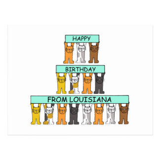 Happy Birthday from Louisiana Postcard