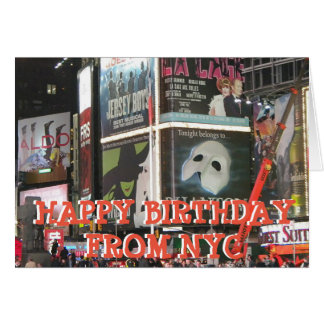 Happy Birthday from NYC Miss You Card