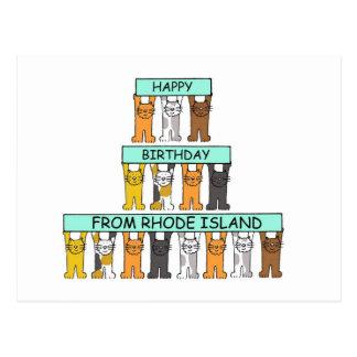 Happy Birthday from Rhode Island. Postcard