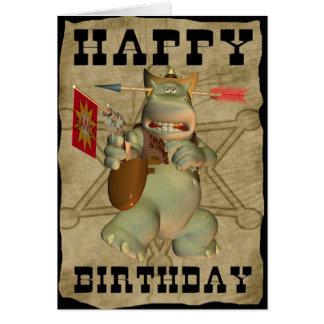 Happy Birthday from Sheriff Hippo card