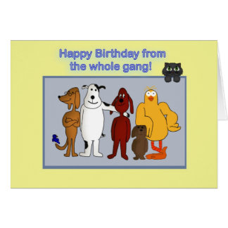Happy Birthday from the gang Card
