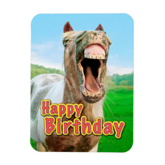 Happy Birthday from the happy horse Magnet
