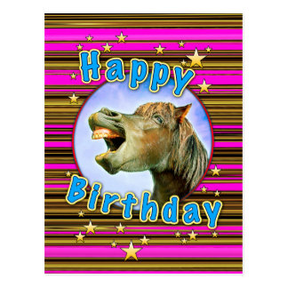 Happy Birthday from the laughing horse Postcard