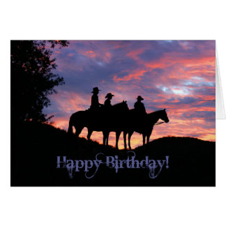 Happy Birthday from the Whole Gang Cowboy Cards
