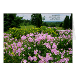 Happy Birthday - Garden with a View Greeting Card