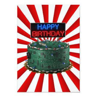 "Happy Birthday, Geek 5"" X 7"" Invitation Card"