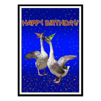 Happy Birthday Geese Business Card Templates