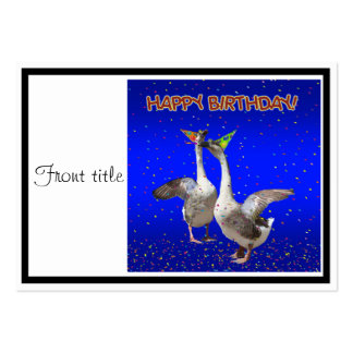 Happy Birthday Geese Business Card