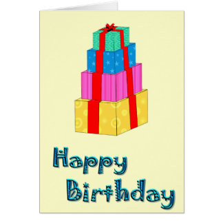 Happy Birthday Gift Box Tower Card