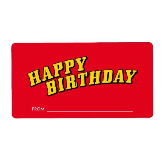 Happy Birthday Gift Label Stickers