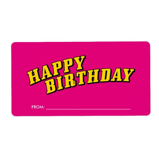 Happy Birthday Gift Label Stickers Shipping Label