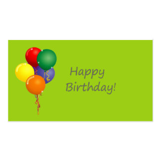 Happy Birthday Gift Tags Pack Of Standard Business Cards