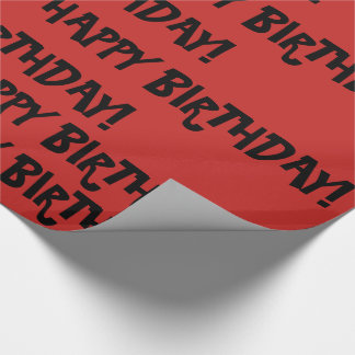 Happy Birthday Gift Wrapping Paper 6 feet long