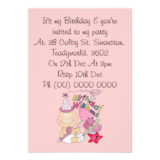Happy Birthday Girl wishes 1 Year Old Personalized Announcement