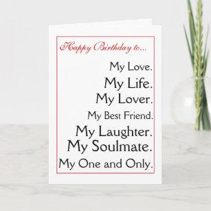 Happy Birthday Girlfriendboyfriendwifehusband Card