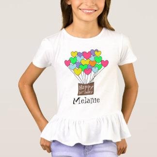 Happy birthday Girl's Name Cute Heart Balloons T-Shirt