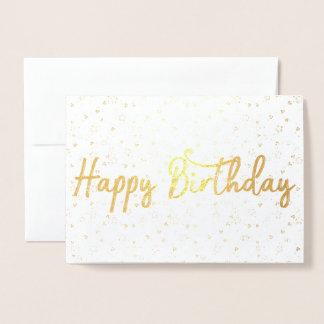 happy birthday Gold Foil Card