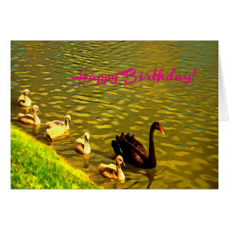 Happy Birthday Goose Family Card