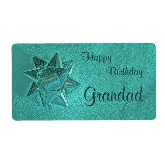Happy Birthday Grandad Gift Tag Shipping Label