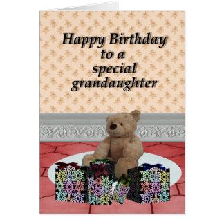 Happy Birthday Grandaughter 1. Card