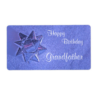 Happy Birthday Grandfather Gift Tag Shipping Label
