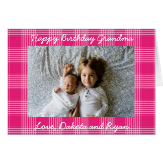 Happy Birthday Grandma Personalized Photo Card