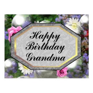 Happy Birthday Grandma Postcard