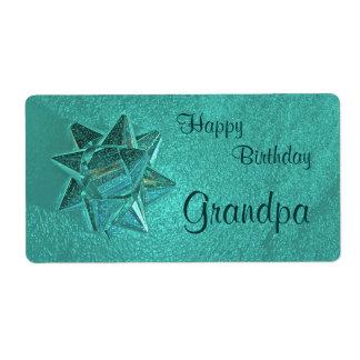 Happy Birthday Grandpa Gift Tag Shipping Label