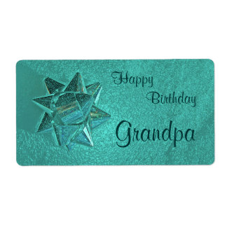 Happy Birthday Grandpa Gift Tag Shipping Label