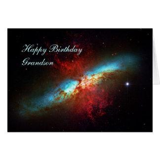 Happy Birthday Grandson - A Starburst Galaxy Card