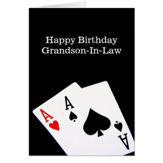 Happy Birthday Grandson-In-Law Card