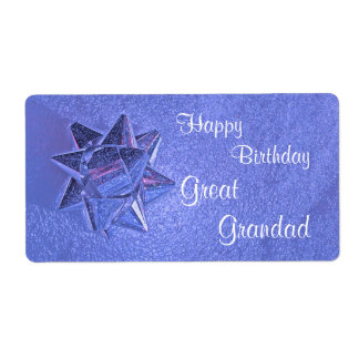 Happy Birthday Great Grandad Gift Tag Shipping Label