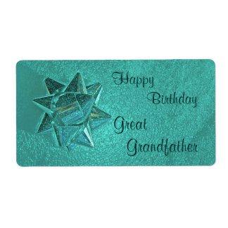 Happy Birthday Great Grandfather Gift Tag Shipping Label