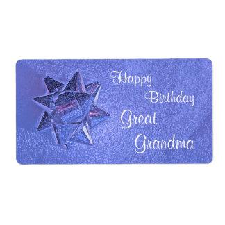 Happy Birthday Great Grandma Gift Tag Shipping Label