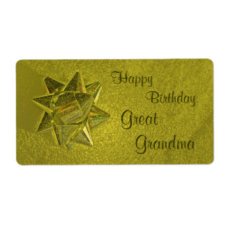Happy Birthday Great Grandma Gift Tag Shipping Label