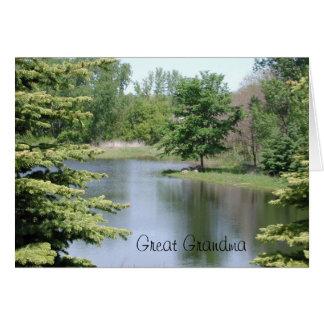Happy Birthday Great Grandma Greeting Card