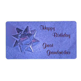 Happy Birthday Great Grandmother Gift Tag Shipping Label