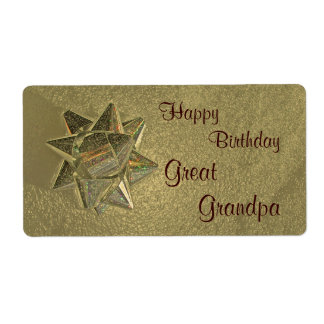 Happy Birthday Great Grandpa Gift Tag Shipping Label