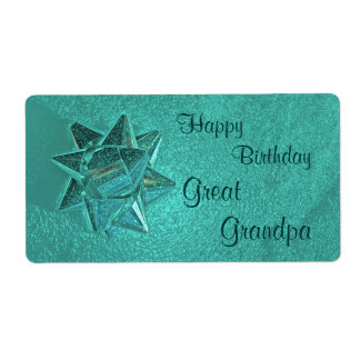Happy Birthday Great Grandpa Gift Tag Shipping Label