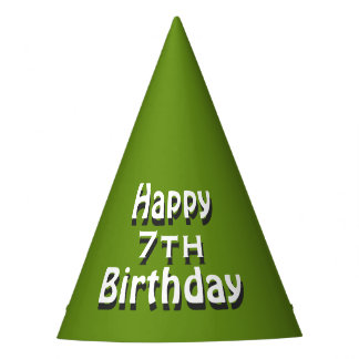 Happy Birthday Green Party Hat