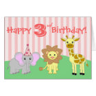 Happy Birthday Greeting Card - Baby Animals