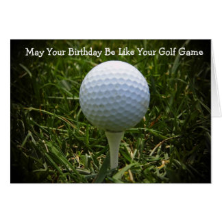 Happy Birthday Greeting Card For The Golfer!