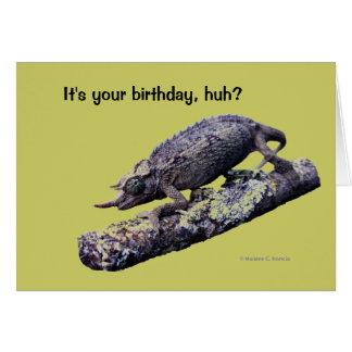 Happy birthday greeting card (in green)