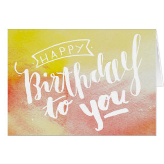 Happy Birthday - greeting map handgeletterte Card