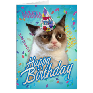 Happy Birthday Grumpy Cat Card