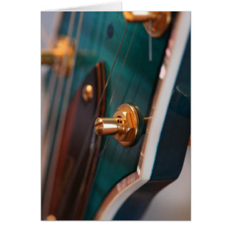 Happy Birthday - Guitar Head in Blue Card