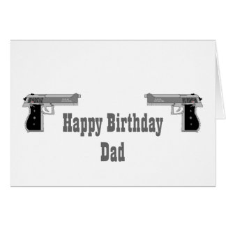 Happy Birthday Gun Card