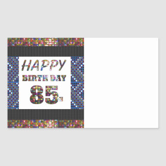 happy birthday happybirthday  designs rectangular sticker